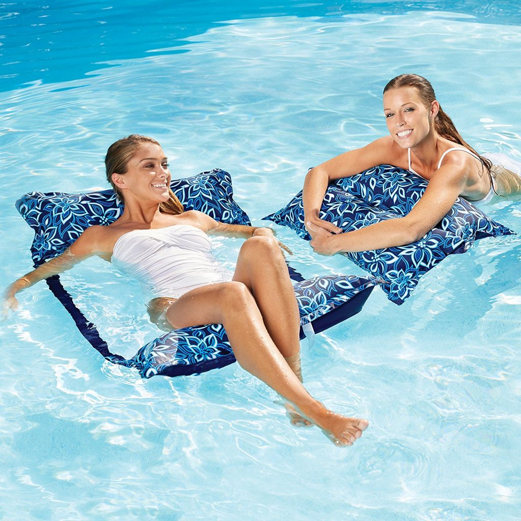 Aqua Monterey 4-in-1 Multi-Purpose Inflatable Hammock (Saddle,Lounge Chair, Hammock, Drifter) Portable Pool Float