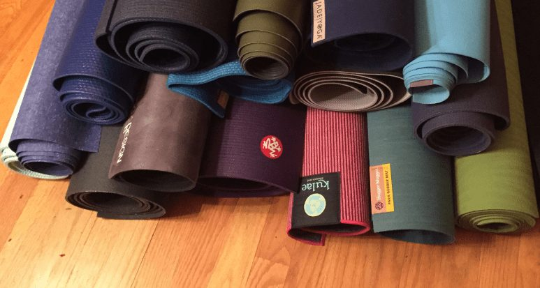 The material making the yoga mat
