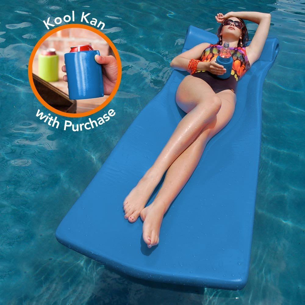"Texas Recreation Kool Float 1.75"" Thick Swimming Pool Foam Pool Floating Mattress"