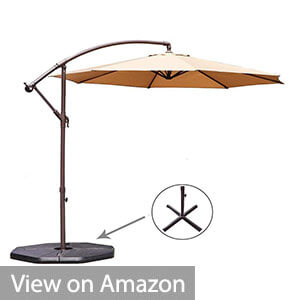 Le Papillon 10-ft Offset Hanging Patio Umbrella