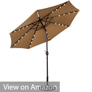 Sundale Outdoor Solar Powered LED Umbrella