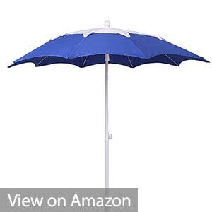 AMMSUN 2017 7ft Beach Patio Heavy Duty Umbrella