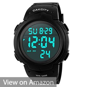 CakCity Men's Digital Sports Watch