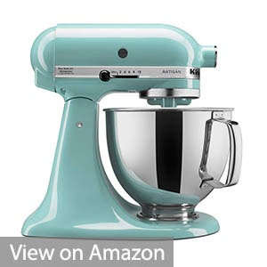 KitchenAid KSM150PSAQ 5 Qt. Artisan Series with Pouring Shield – Aqua Sky
