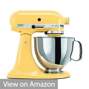 KitchenAid KSM150PSMY 5 Qt. Artisan Series with Pouring Shield – Majestic Yellow