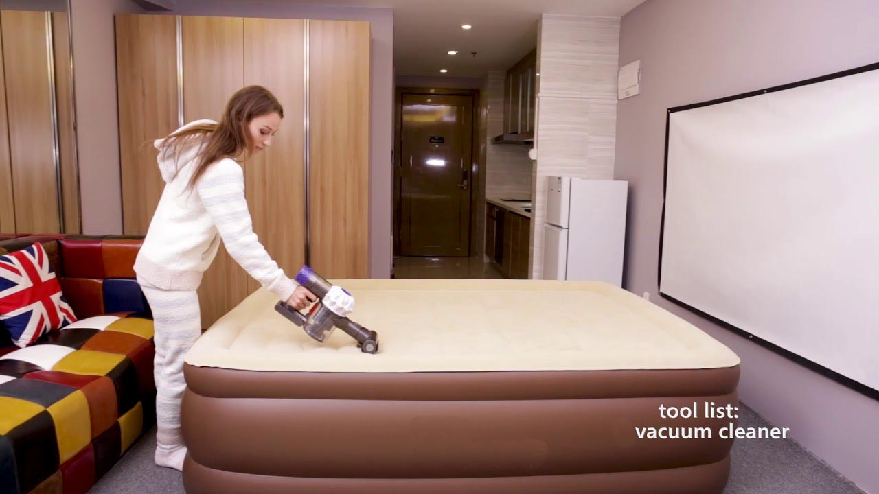 CleanAir Mattress Start with a Vacuum Cleaner