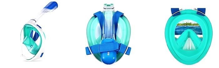 Details of Octobermoon Panoramic Full Face Snorkel Mask