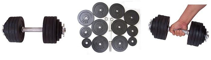 Features of Unipack Adjustable Dumbbells Kits
