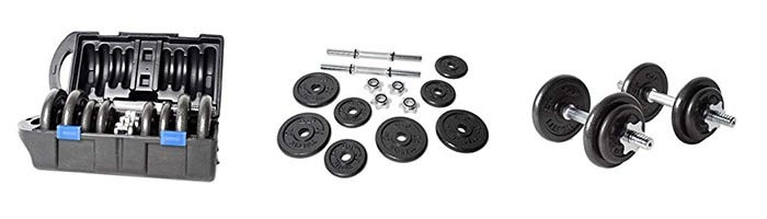 Features of CAP Barbell RSWB-40TP 40 lb. Dumbbell Set