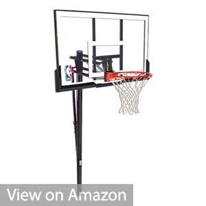 Spalding 88300S ExactaHeight Adjustable Pole Basketball Hoop