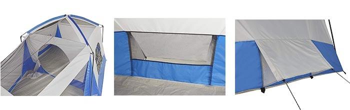 Details of Wenzel 8 Person Klondike Tent