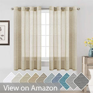 H.VERSAILTEX Beige Linen Curtain Panels