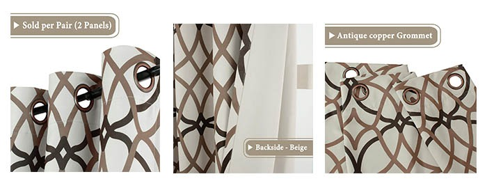 Details of Thermal Insulated Grommet Blackout Curtains