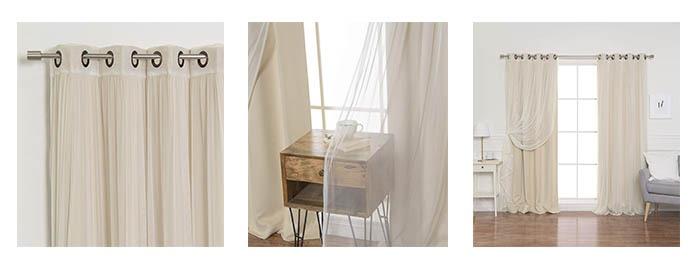 Details of Best Home Fashion Mix & Match Blackout Curtain Set
