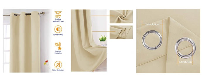 Details of HOMEIDEAS Blackout Curtains