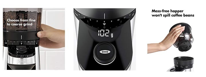 Details of OXO BREW Conical Burr Coffee Grinder