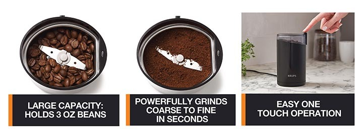 Details of KRUPS F203 Electric Spice and Coffee Grinder
