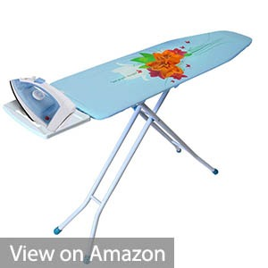 Ybm Home Deluxe Adjustable 4-leg Heavy Duty Ironing Board