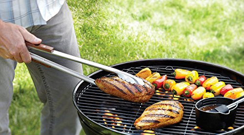Extra Long Stainless steel BBQ tongs