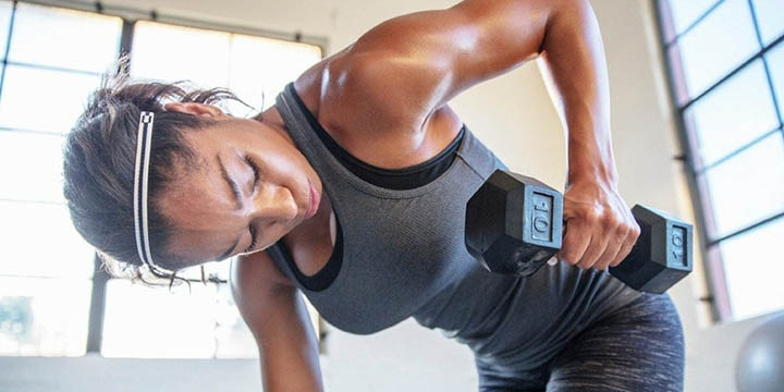 The dumbbell routine