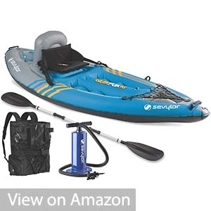 Sevylor QuickPak Covered Sit-On-Top Inflatable Kayak