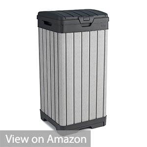 KETER Rockford Resin 38 Gallon Trash Can