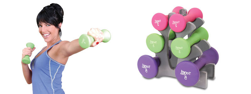 Tone-Fitness-20-Pound-Hourglass-Shaped-Dumbbell-Set