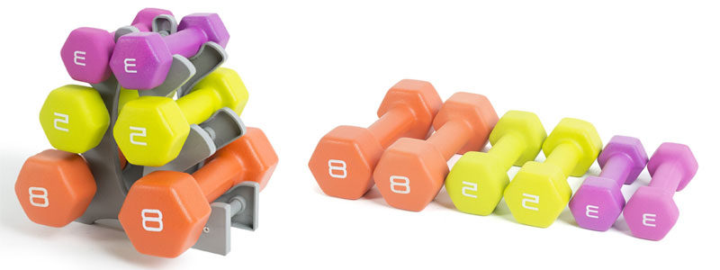 Tone-Fitness-Neoprene-Dumbbell-Set-with-Rack-32-lb
