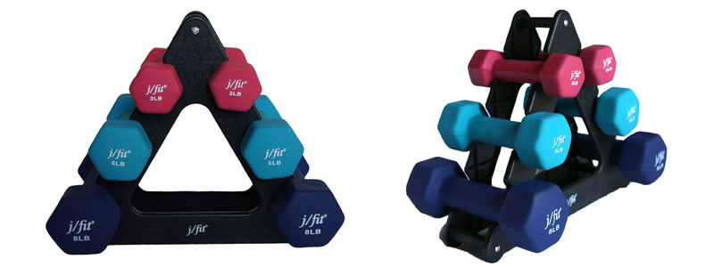 jfit-Dumbbell-Set-with-Stand-32-Pound-Black