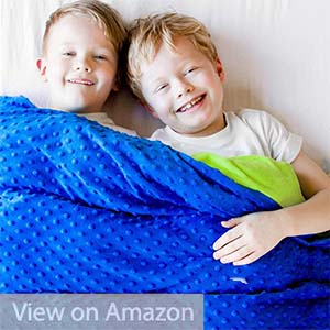 Harkla 10lb Weighted Blanket for Autism & Anxiety for Children 9-11