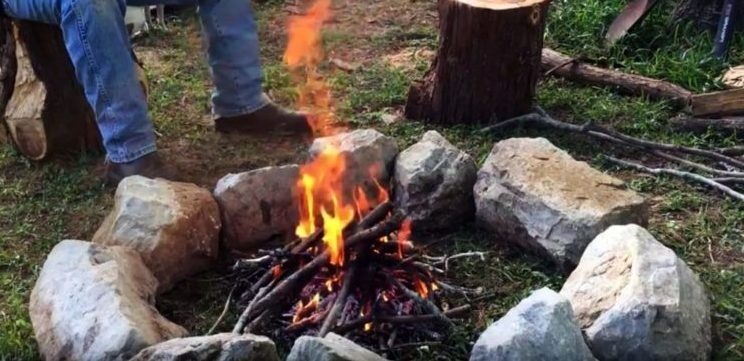 heated stones for warm tent