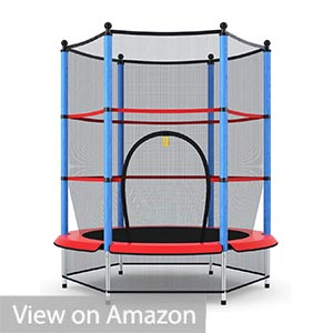 Giantex Trampoline 55″ Trampoline with Enclosure