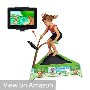 JumpSport iBounce Kids Trampoline with Tablet Holder