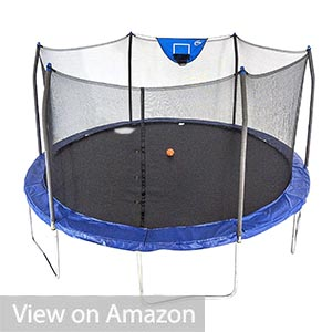 Skywalker 15ft Jump'n'Dunk Trampoline with Enclosure and Basketball Hoop