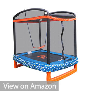 JUMP POWER 72 inches x 50 inches Trampoline for Toddlers