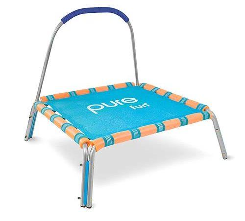 Pure Fun Kids Trampoline with Handrail