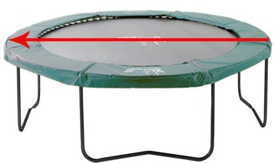 Measuring the Diameter of a Round Trampoline