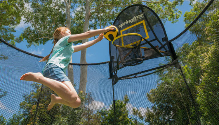 Why Should You Choose Trampolines With Basketball Hoop For Your Kids