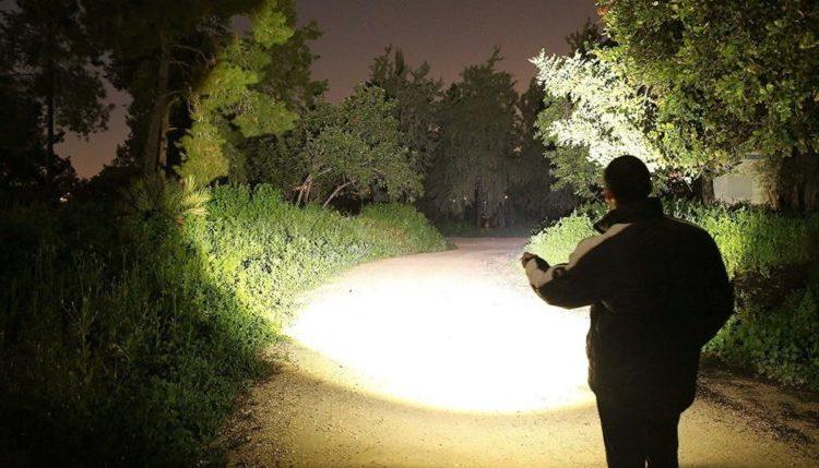 Brightness of tactical flashlight