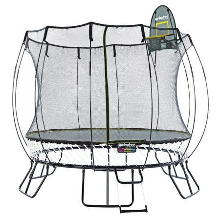 Springfree Trampoline Medium Round with Basketball Hoop & Ladder, 10′
